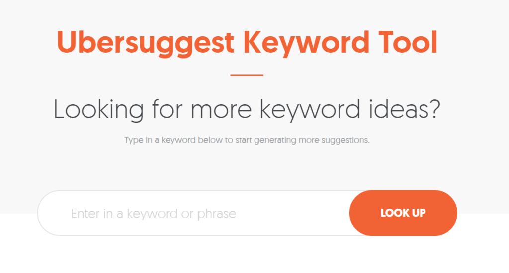 ubersuggest keyword tool seo blog de proindex studio